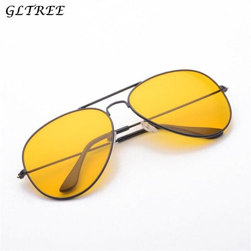 Gltree Nachtsicht Gläser Metall Rahmen Sonnenbrille Männer Brillen Auto Fahrer Anti-glare Gelb Gläser Frauen Brille Oculos G396