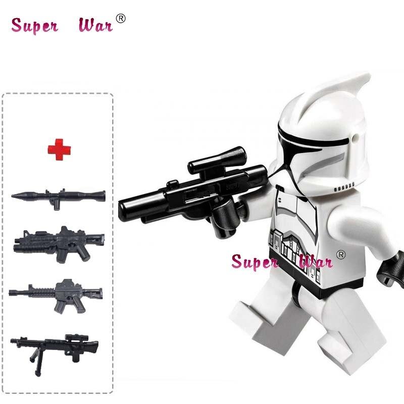 50PCS starwars super heroes marvel Clone Jet Trooper building blocks bricks friends hobby toys for baby kids gift