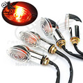 2 PCS motorcycle indicator amber blinker yellow lighting lamp flashers 12V 10mm motorbike turn signal light for Harley Davidson