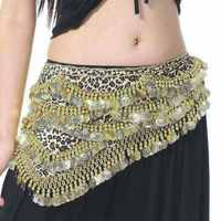 Fashion Sexy Style Coins Belly Dance Waist Chain Hip Scarf Belly Dance Belt Sequins Tassel Women