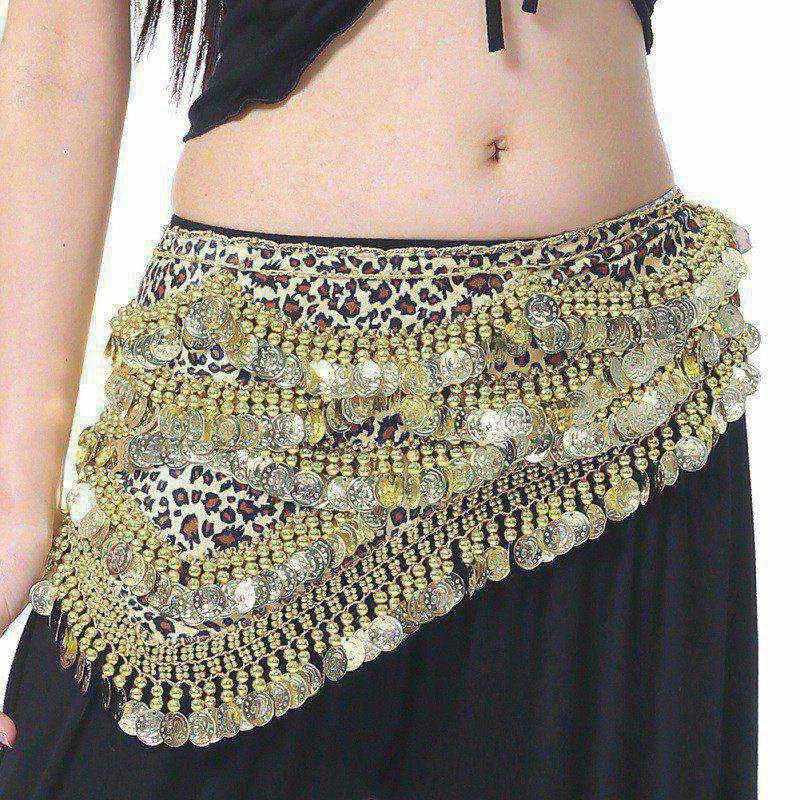 Fashion Sexy Style Coins Belly Dance Waist Chain Hip Scarf Belly Dance Belt Sequins Tassel Women Dancing Wear sdf