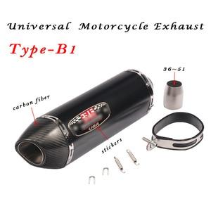 Image 3 - 36 мм ~ 51 мм Универсальная модификация выхлопной трубы мотоцикла Escape Модифицированная выхлопная труба для мотокросса R1 R6 R3 Z900 KTM390 K8 CBR