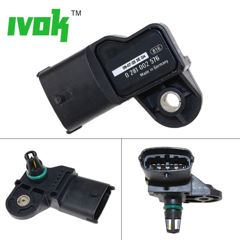 Original Manifold Absolute Boost Pressure MAP Sensor For VOLVO FE FH FL FM KAMAZ DAF CF LF 45 55 65 0281002743 0281002576(China)