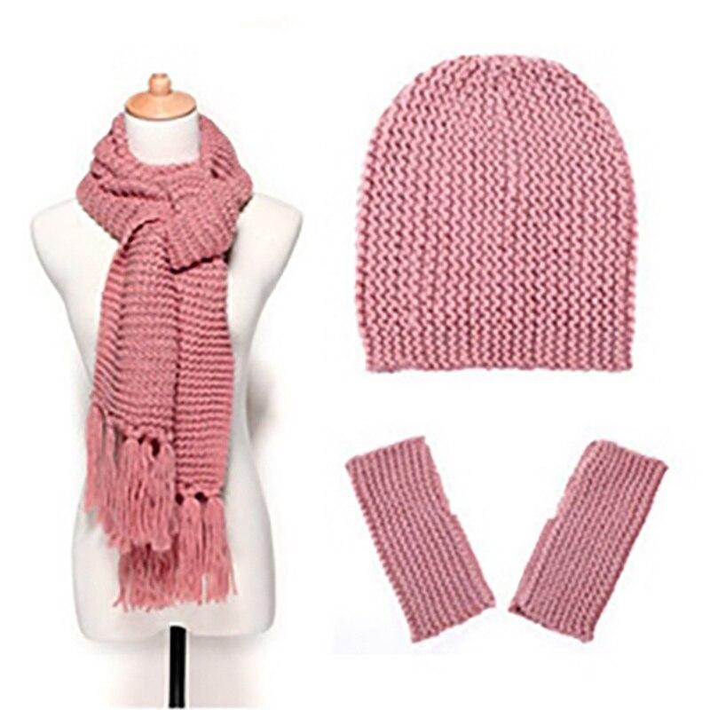 Ensemble 3 pièces bonnet, écharpe, gants 5