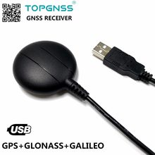 Aplicação industrial usb gps glonass receptor galileo antena módulo gnss200l usb gnss gps glonass receptor