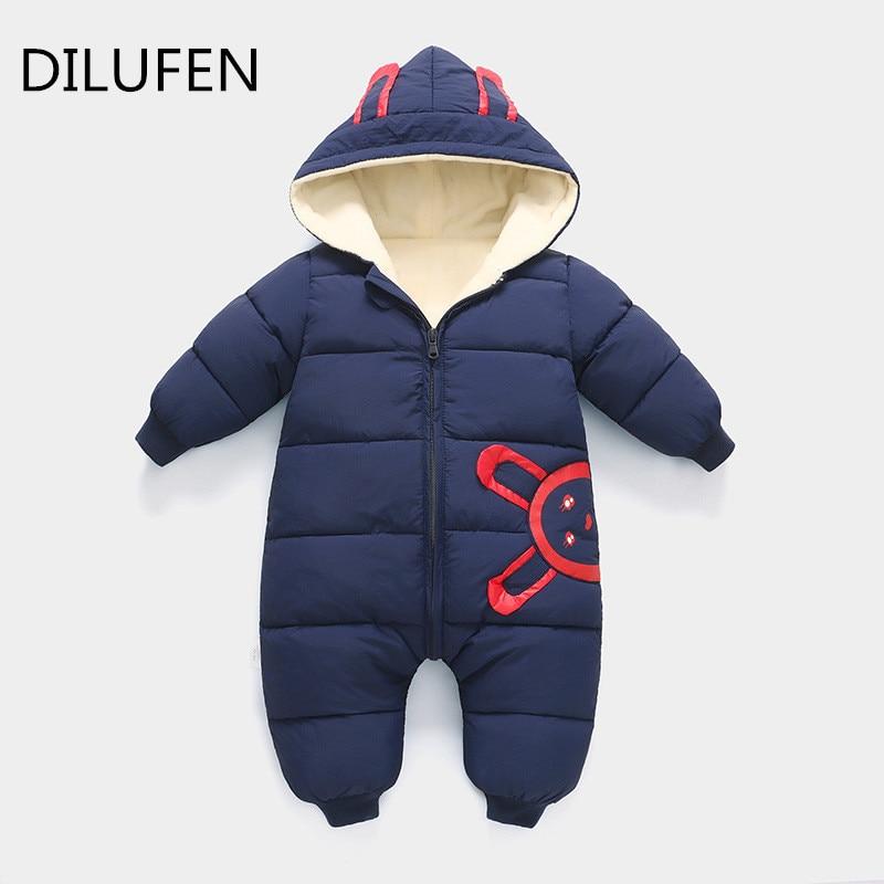 2018 nuevo Otoño Invierno mono bebé recién nacido traje de nieve fotografía  niño cálido mameluco abajo algodón chica ropa mono en Ropa de Nieve de Mamá  y ... 1ef00ab8ea0f