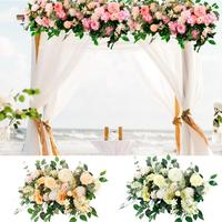 Artificial Flowers Wedding Decor Fake Flower Cited Arched Door Shop Artificial Silk Flower for Home Decor Wedding Party Supplies