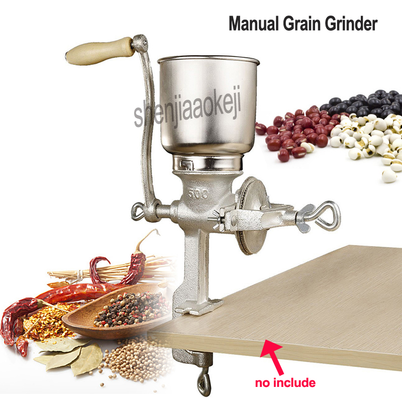 Hand-gekröpft Korn Grinder Mais Mutter soja erdnüsse reis Manuelle Körnung maschine Restaurant Getreide Grinder 1 pc