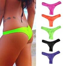 2020 Sexy Brazilian Mini Thong V Shape G String Bikini Beach Underwear Swimwear 5 Colors Thong