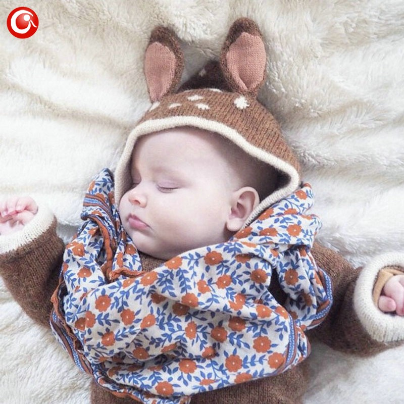 12M-4Y Baby Girls Christmas Deer Costume Cardigan Toddler Kids Boys Dot Animal Knitted Crochet Sweater Outwear Clothing 2016 (4)