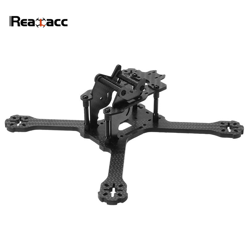 Realacc Kylin 210 210mm Wheelbase 5mm Arm Carbon Fiber FPV Racing Frame Kit W/ 5V 12V PDB Board For RC Drone Quadcopter DIY Part miko rhino3 150mm wheelbase 3 inch 6mm arm carbon fiber molded integrated rc fpv racing frame kit for diy multicopter drone part