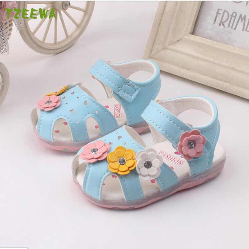 Niños Zapatos Niña moda flor niñas sandalias princesa Zapatos Niños playa Sandalias Niño Zapatos Bebé Bebek Ayakkabi