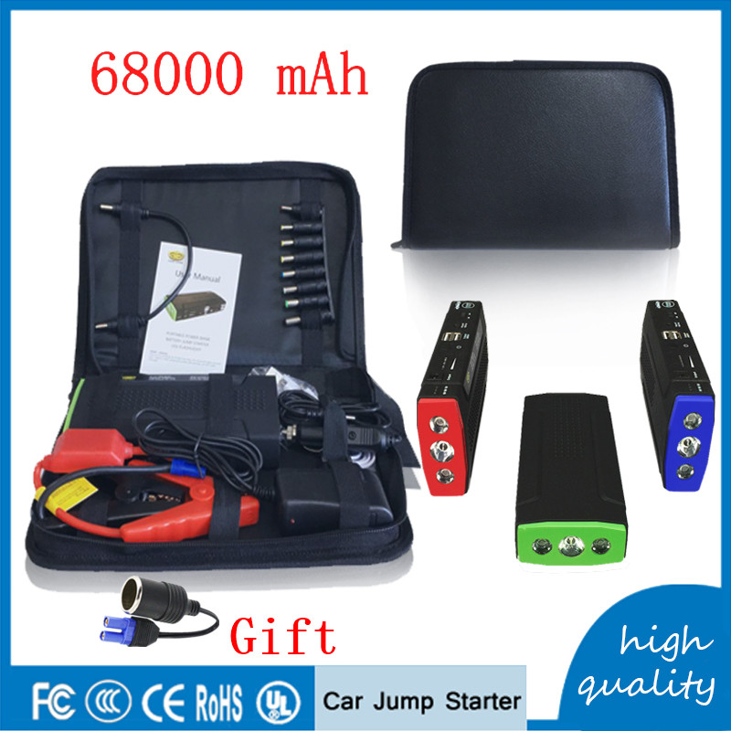 Sales Promotion Newest <font><b>Portable</b></font> 68000mAh Car Battery Charger Starting Car Jump Starter Booster <font><b>Power</b></font> Bank 12V Auto Best quality