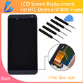 LL TRADER NO Dead Pixel Black LCD Screen For HTC desire 610 Display Digitizer Assembly+Frame Replacement Part Free Tool Shipping
