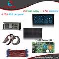 Ao ar livre conduziu a exposição da tela DIY kits módulo p13.33 rgb levou ao ar livre 4 Pcs + 1 Pcs controlador + 1 Pcs JN fonte de alimentação + todos os cabos