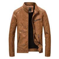 2019 jaquetas de couro e casacos masculinos primavera outono marca masculina fino gola jaqueta de couro falso casaco de pele