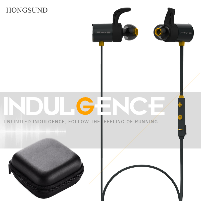 Dual battery headset Magnetic Headphones Bluetooth headsets with microphone Wireless Sport Earphones Hongsund HB806 P бумажник han musi h011042