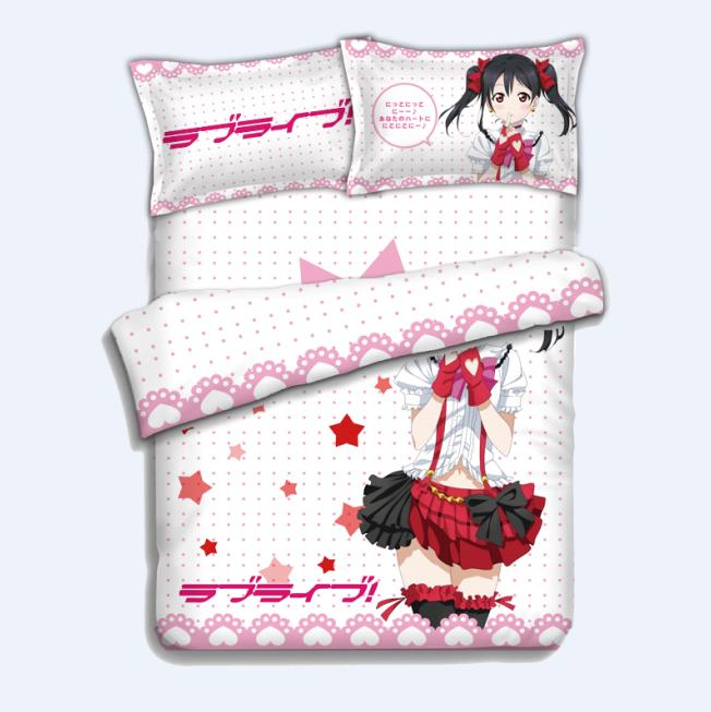 Японского аниме Ядзава Нико Love Live! 4 шт. постельное белье Простыни Детские Набор пододеяльников для пуховых одеял комплект