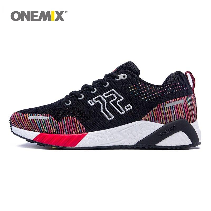 ONEMIX Running Shoes Men Mesh Kasut Sneaker Musim Dingin dan Bernafas Kasut Sukan Luar dan Latihan Joging Kecergasan