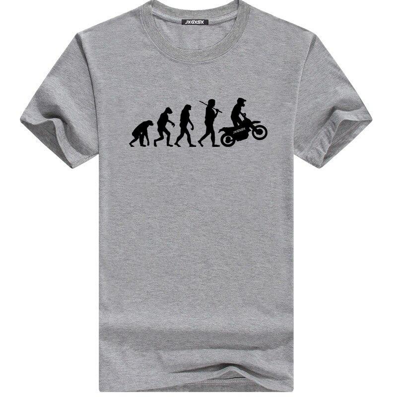 JXGXSX High Quality T Shirts Men MOTORCYCLE APE TO EVOLUTION T Shirt 2018 Summer Short Sleeve O-Neck Cotton Homme T-shirt Tee