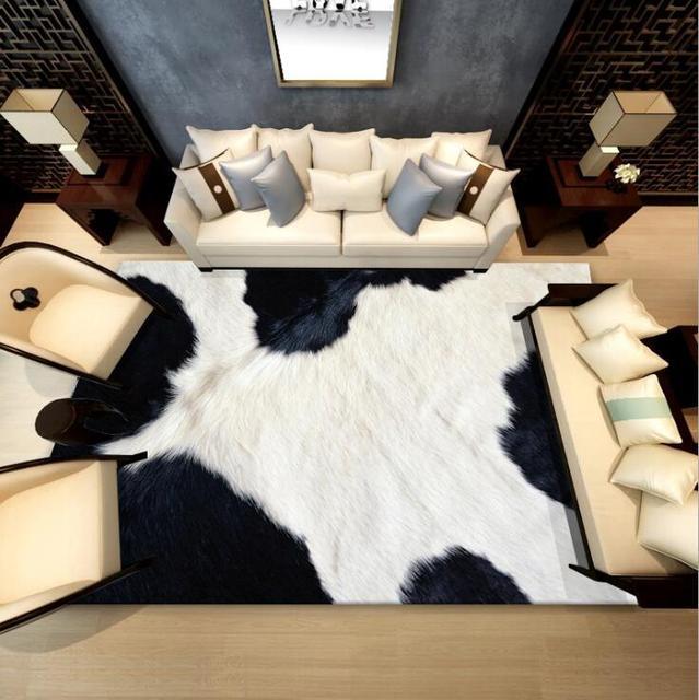 120*180 Large Size Flannel Area Rug Animal Imitation Leopard Living Room Bedroom Carpet Blanket Soft Blanket floor Mat