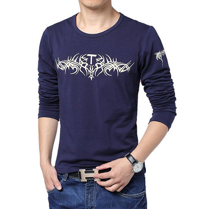 High quality 100 cotton men t shirt long sleeve fashion for Good quality long sleeve t shirts