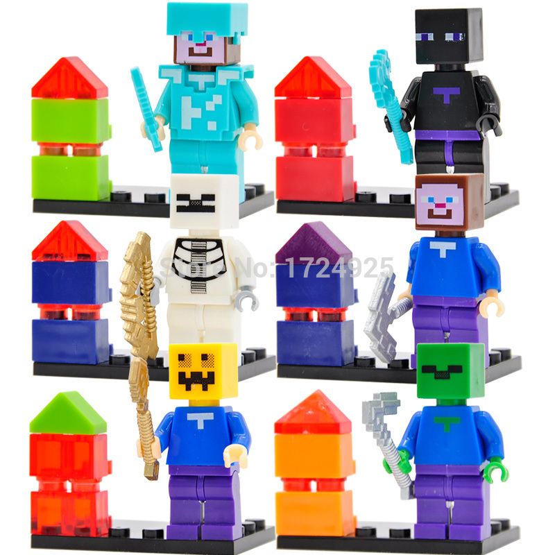 JR839 Cartoon Game Character 6pcslot Figure Set Educational Building Blocks Sets Models Brick Toys
