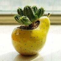 Succulent Plants Pot Microlandschaft Personalized Office House Balcony Landscape Pot Creative Pear Shap Flowerpots