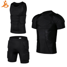 YD New Soccer Rugby Basketball Armor Vest Shorts Anti Crash Sportwear Sport Safety Vest Short With Honeycomb Pad Basketball Suit