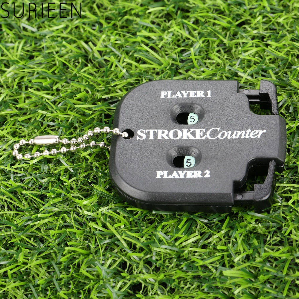 Golf Shot Count Stroke Putt Score Counter Compteur Two Digits Scoring Keeper With Key Chain Golf Training Aids Golf Accessories