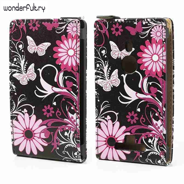 Wonderfultry Coque For Nokia Lumia 925 Beautiful Pattern Design Phone Vertical PU Leather Flip Case Capa For Nokia Lumia 925 037