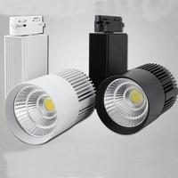 LED Track Light 30W COB Rail Lights Spotlight Equal 300W Halogen Lamp 45mil 110v 120v 220v 230v 240v Warm Cold Natural White