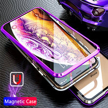Luxury Protective Magnetic Case On The For IPhone 7 6 6s 8 Plus Phone Full Cover For IPhone X XR XS MAX Shockproof Back Case(China)