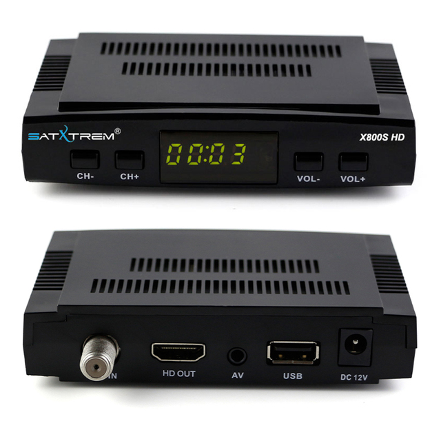 SATXTREM X800S HD Satellite Receiver DVB S2 Digital Receptor with 8 Lines Cccam cline For 1 Year Europe Spain +USB WiFi