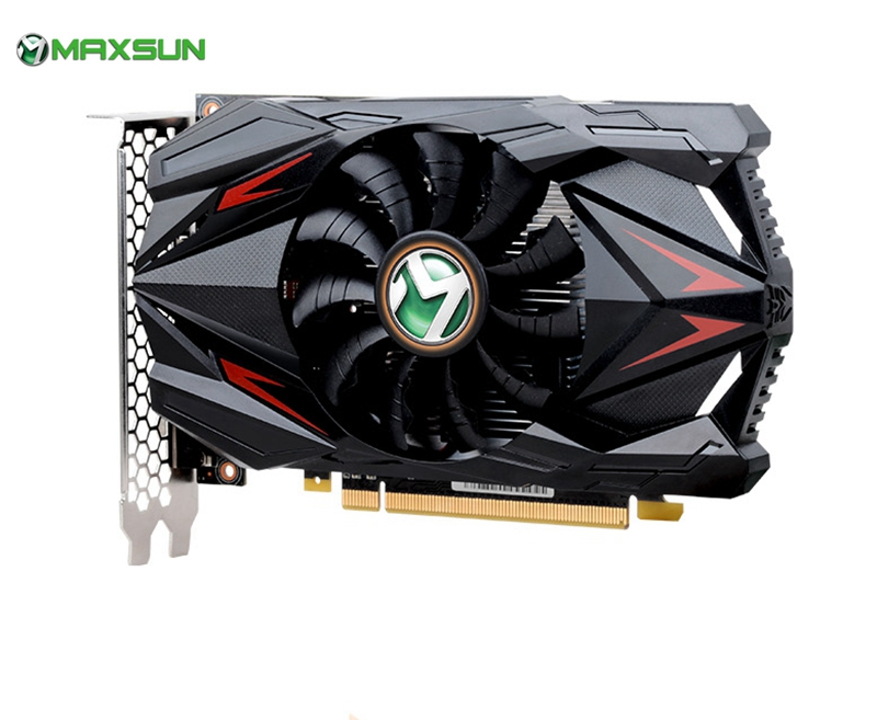 MAXSUN <font><b>GTX</b></font> <font><b>1050Ti</b></font> 4GB <font><b>NVIDIA</b></font> Graphics Card <font><b>GeForce</b></font> 4GB <font><b>nVIDIA</b></font> gaming GDDR5 128 Bit video card computer Desktop map for mining image