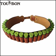 Tourbon-Hunting-Gun-Accessories-Vintage-Shotgun-Ammo-Belt-Genuine-Leather-12Gauge-Cartridges-Belt-Brown-for-Hunting