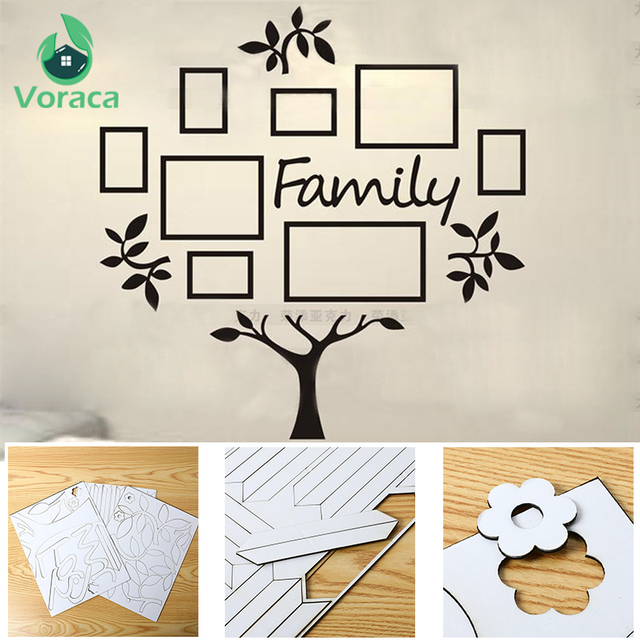 Removable Photo Frame Tree 3D Wall Stickers Home Decor Acrylic DIY Wall Decals Posters Wall Stickers Flower Mural Art Picture
