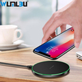 WLMLBU 10W Quick Wireless Charger For iPhone X 8 Samsung S8 S9 S9+ Note 8 Fast Qi Wireless Safe Charging Desktop Charging Stand