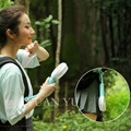 Portable Hand Fan ABS PC Fan LED Flashing USB Charing Cable Table Fan Cooling Fan With Built-in Battery For Home&Office&Outdoor
