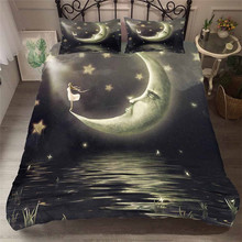Bedding Set 3D Printed Duvet Cover Bed Set Sea Fantasy Fairy Moon Home Textiles for Adults Bedclothes with Pillowcase #MJSL06 шторы тканевые seven fairy home textiles 6036 5