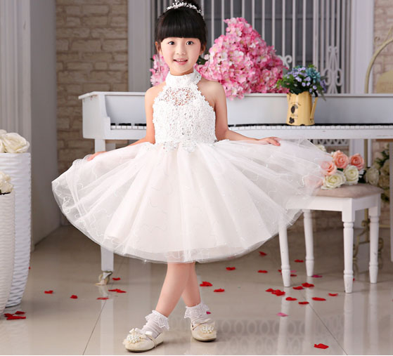 de2e0cd4d39 free shipping 2017 new style knee length ball gown flower girl dresses  pageant gowns kids dresses for wedding
