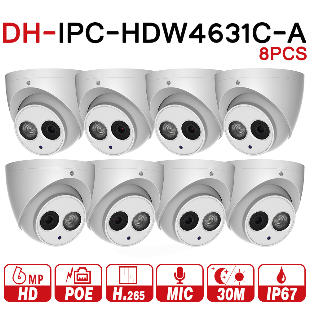 DH 6MP IP Camera IPC-HDW4631C-A Upgrade From IPC-HDW4431C-A POE Network Mini Dome Cam Built-in MIC CCTV Camera Metal 8pcs/lot цена 2017