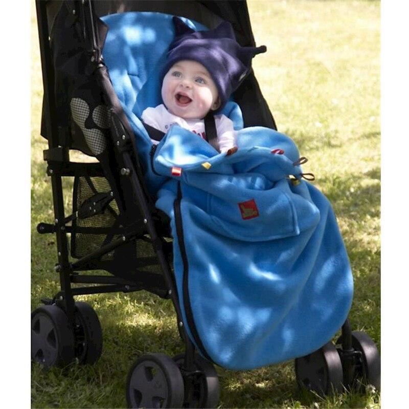 Newborn Envelope Blanket Baby Boy Girl Stroller Fleece Sleeping Bag Footmuff Sack Infant Pushchair Children Warm Kids sleepsack