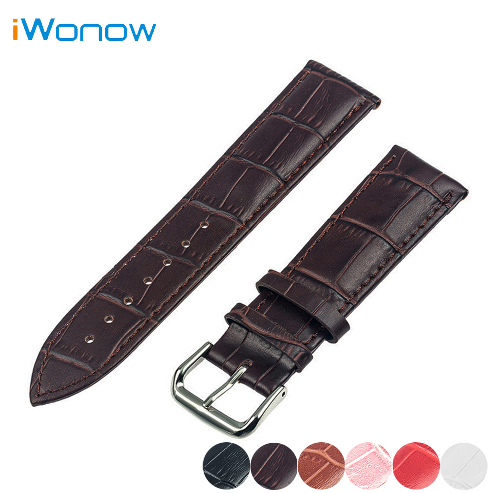 Genuine Leather Watchband 20mm 22mm for IWC Watch Stainless Pin Buckle Strap Band Wrist Belt Bracelet + Spring Bar + Tool цена 2016