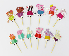 Cute Design Cupcake Toppers 24 pcs/set