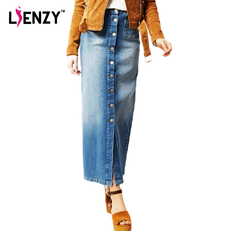 Online Get Cheap Womens Denim Skirt Long -Aliexpress.com | Alibaba