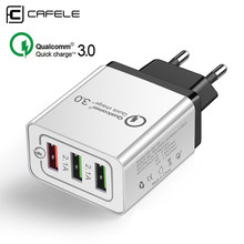 CAFELE Universal 18W USB Quick charge 3.0 5V 3A for Iphone EU Plug Mobile Phone Fast charger charging for Samsung Huawei xiaomi(China)