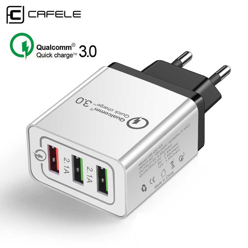 CAFELE Universal 18W USB Quick charge 3.0 5V 3A for Iphone EU Plug Mobile Phone Fast charger charging for Samsung Huawei xiaomi