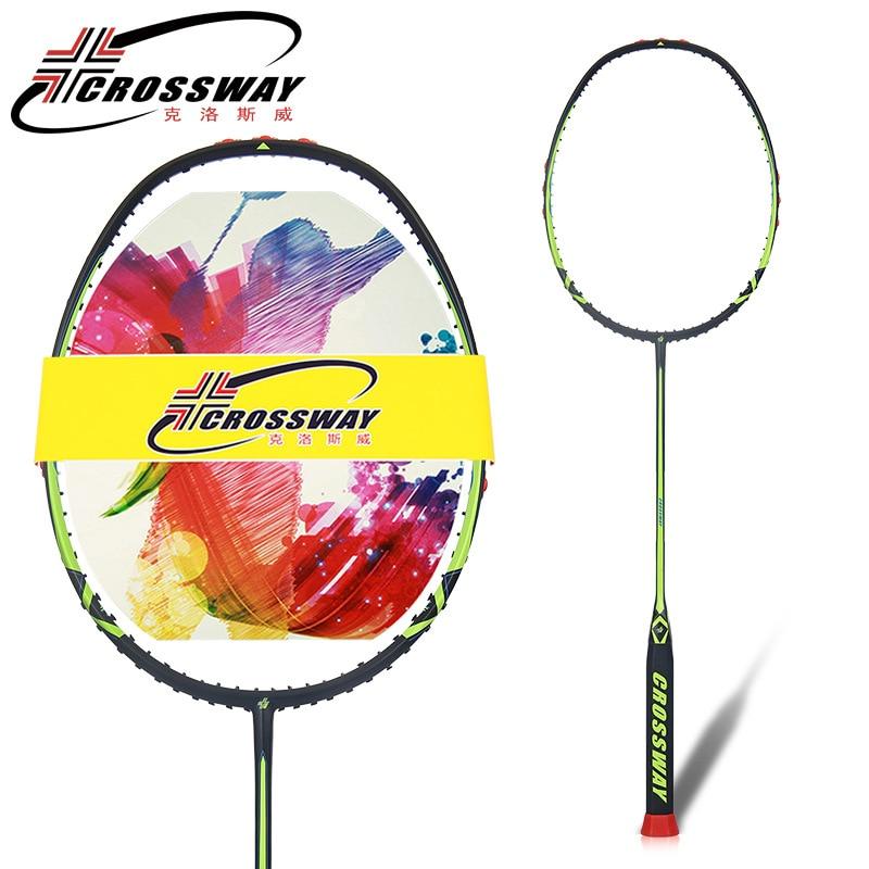 Raquettes de Badminton pour joueur de compétition professionnel en Fiber de carbone monobloc Super légères 77g intégrées avec sac