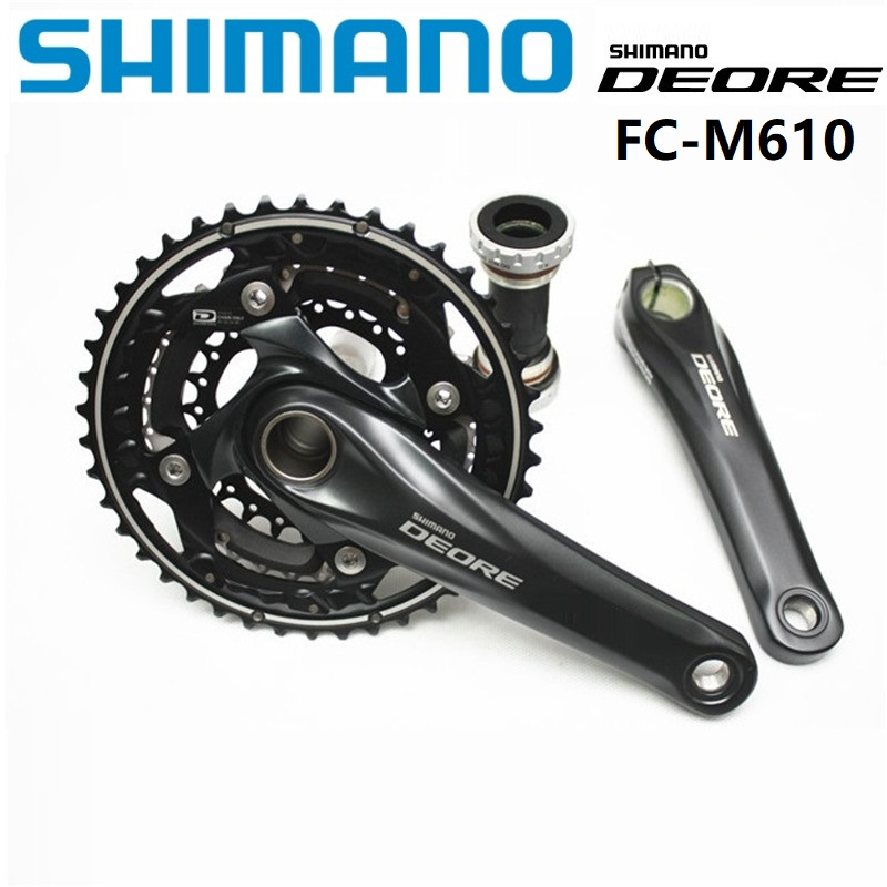 SHIMANO DEORE M610 Crankset 170 175mm Crank 3 Speed 42 32 24T Chainwheel With Bottom Bracket